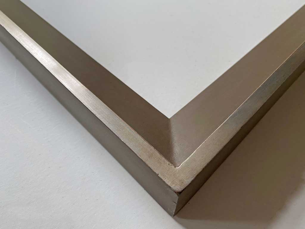 Taupe filet argent